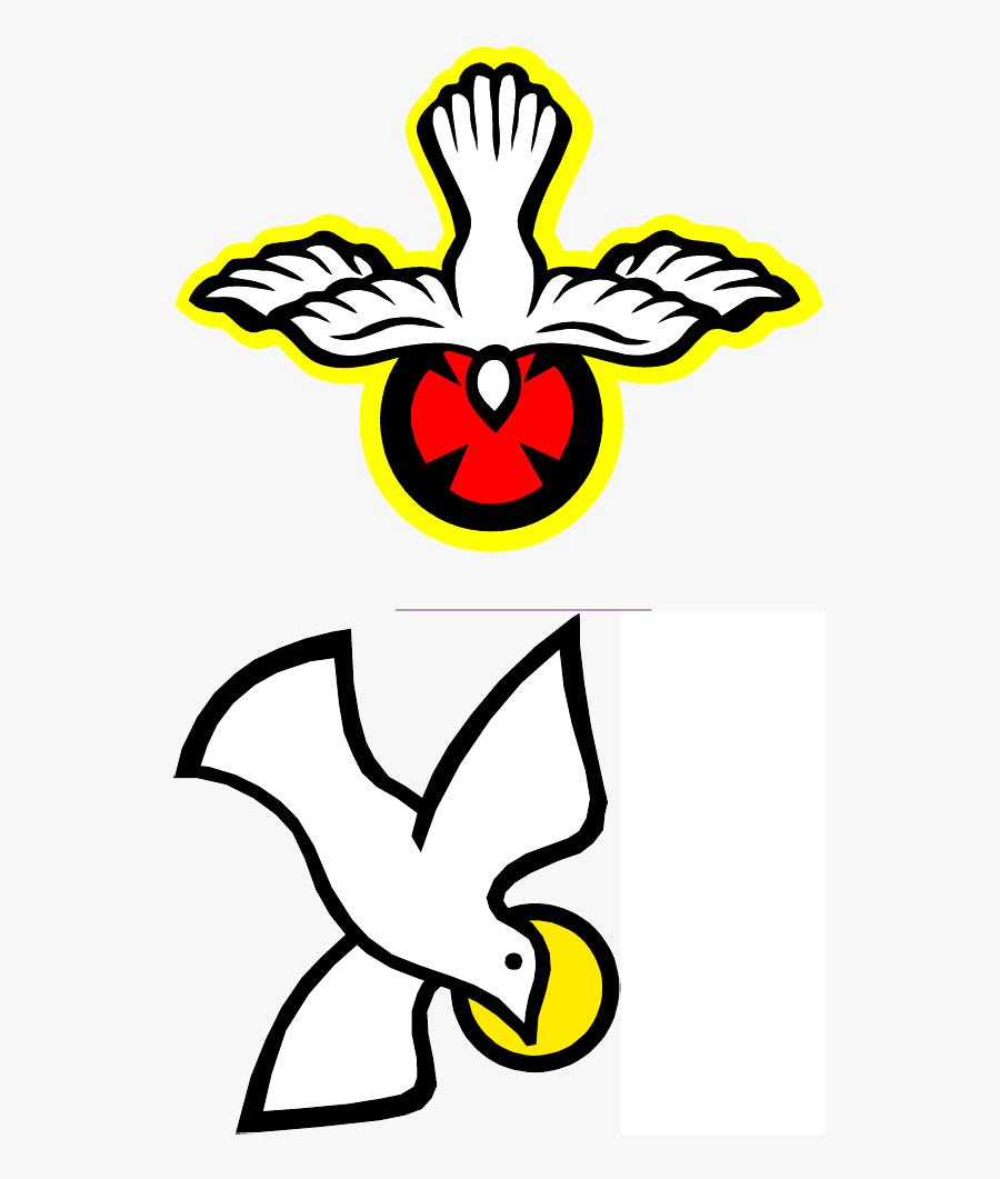 Gospel Of John Holy Spirit Drawing Book Doves As Symbols - Drawing Dove Holy Spirit, Transparent Clipart