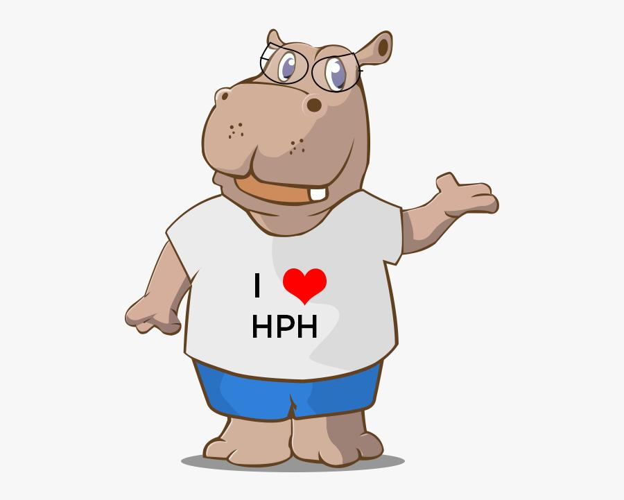 Hippo Big - Cartoon, Transparent Clipart