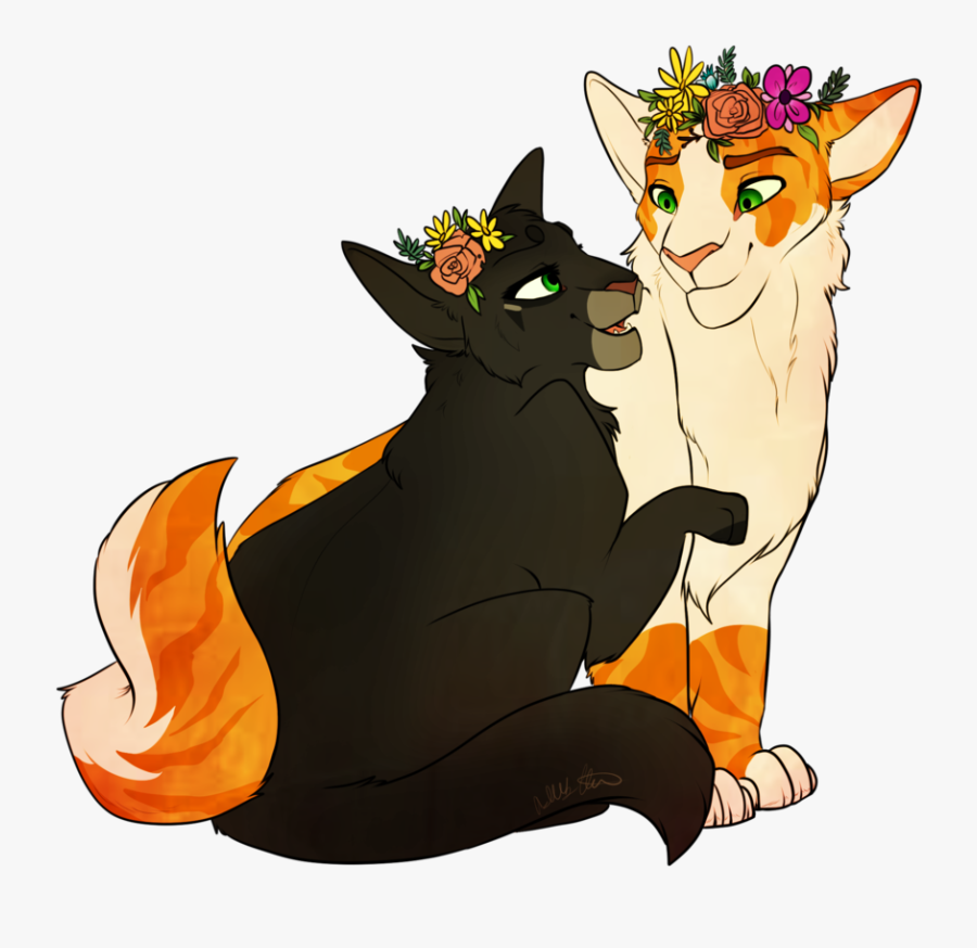 Hollyleaf And Fallen Leaves By Purespiritflower - Warrior Cats Hollyleaf X Fallen Leaves, Transparent Clipart