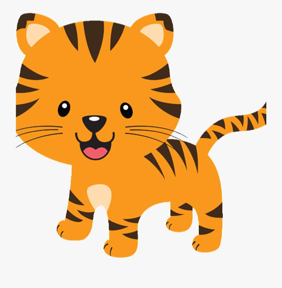 Tiger Clipart Student - Safari Animals Clipart Tiger, Transparent Clipart
