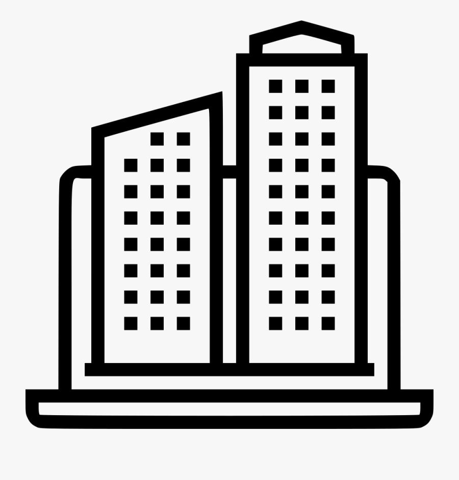 Office Building - Creative Work Icon Icon, Transparent Clipart