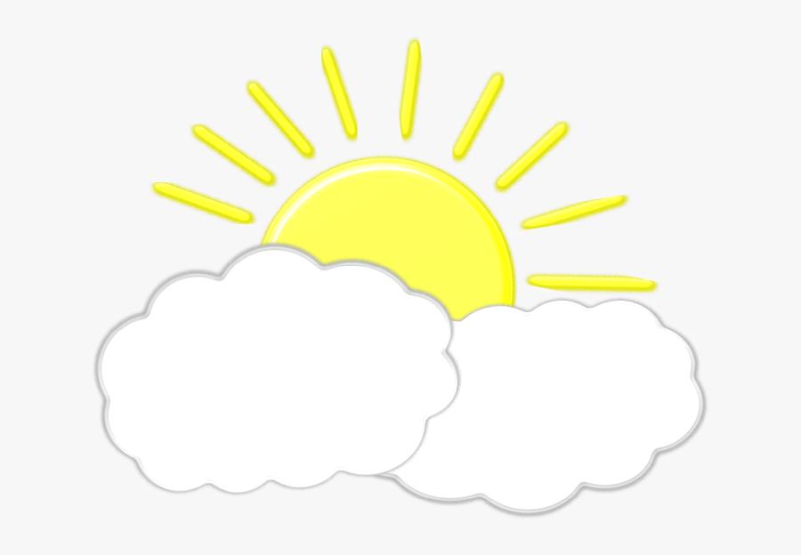 Clipart Sun Pdf - Sun With Clouds Clipart, Transparent Clipart