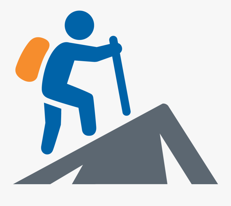 Mountain Hiking Icon, Transparent Clipart