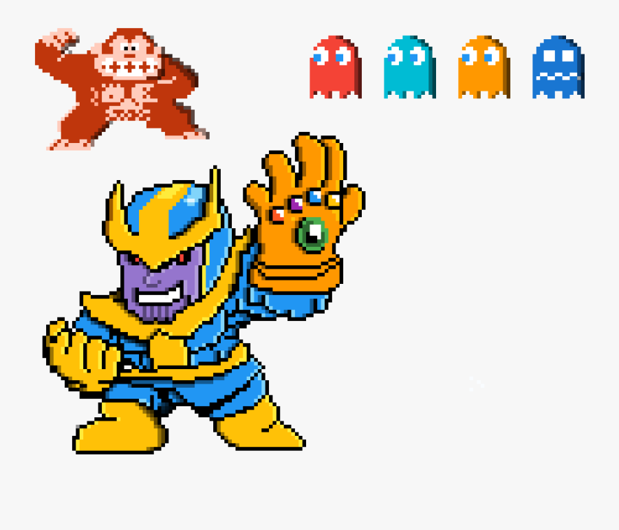 Pacman Thanos, Transparent Clipart