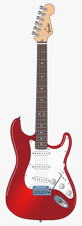 Clipart Guitar Rock - Fender Stratocaster Png, Transparent Clipart