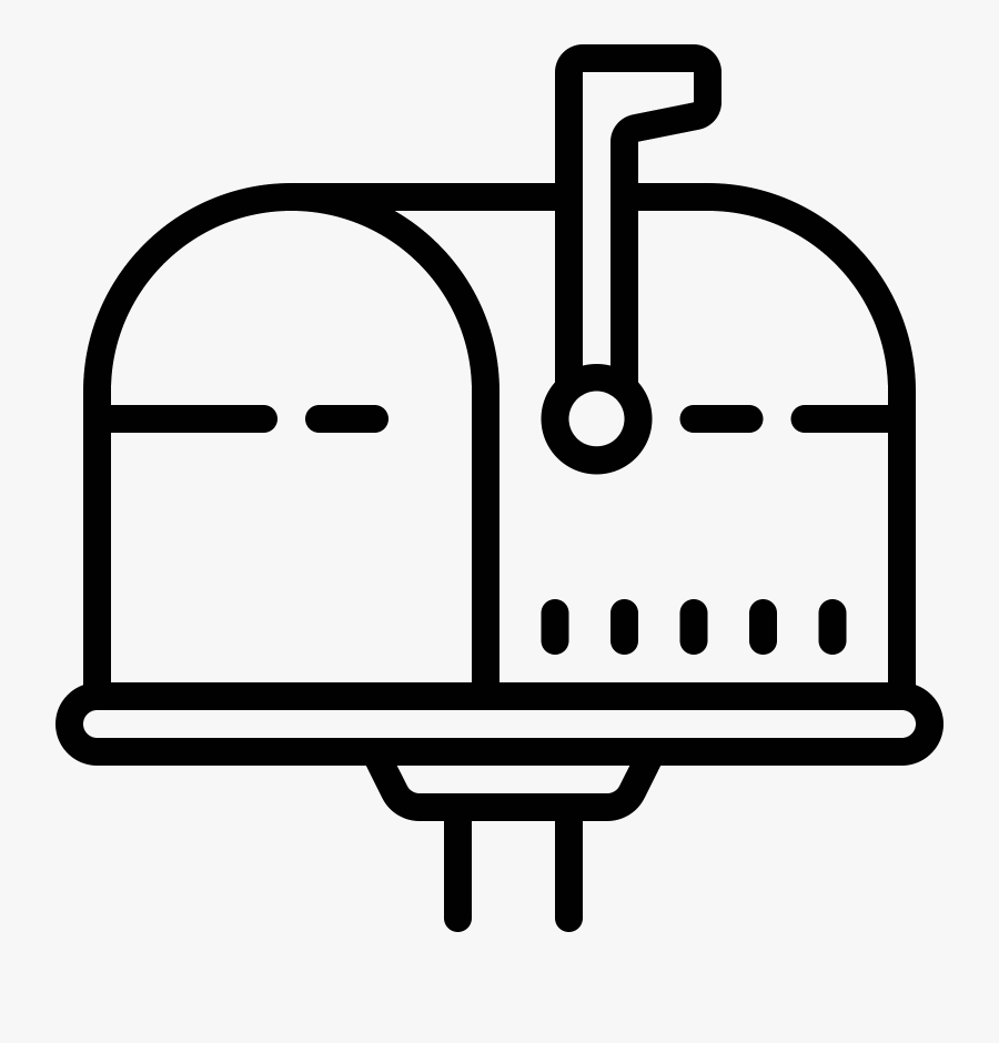 Mailbox Opened Flag Up Icon Clipart , Png Download - Icone Boite Aux Lettres Png, Transparent Clipart