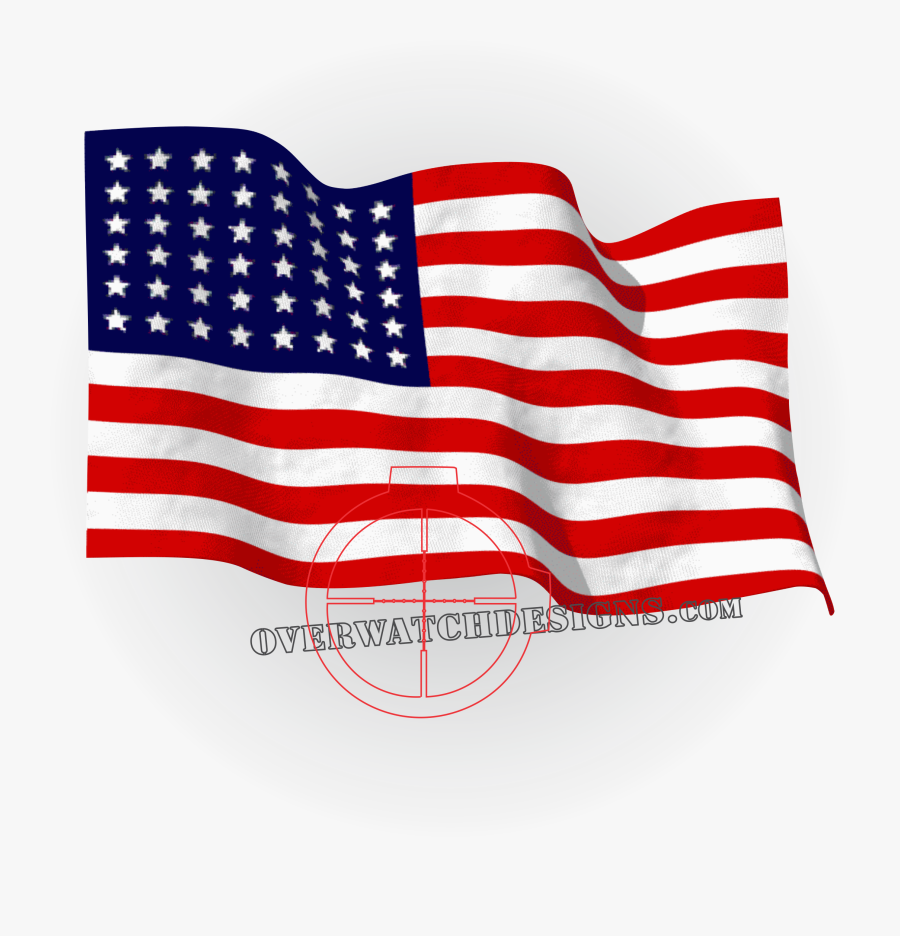 Flag Of The United States Thirteen Colonies Animation - American Flag Gif, Transparent Clipart