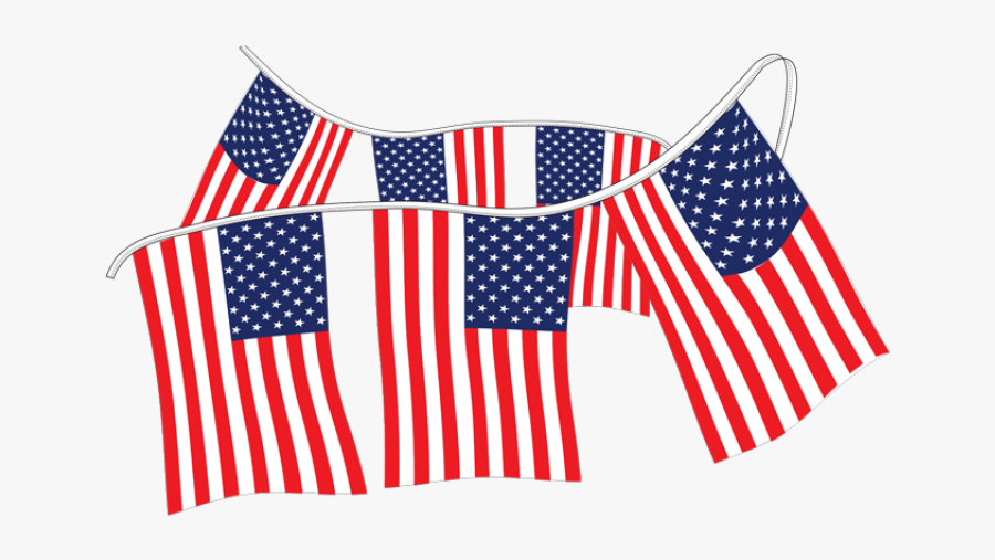 American Flag Pennants Supreme Cloth - Flag Of The United States, Transparent Clipart