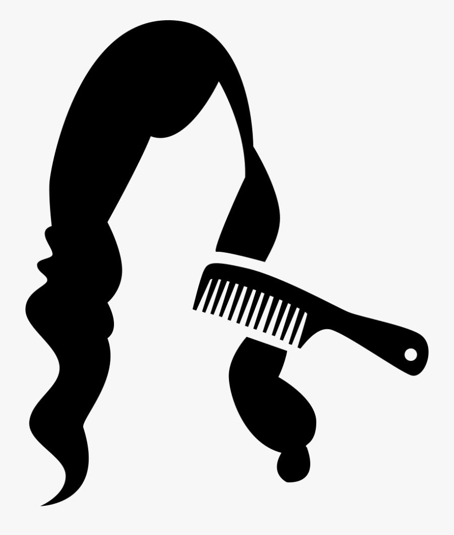 Comb Svg Clip Art - Hair Icon Transparent, Transparent Clipart