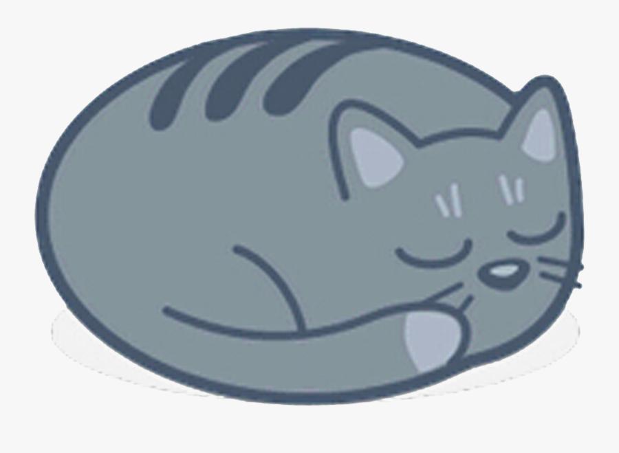 Cat Ico Icon - Cat Sleeping Transparent Background, Transparent Clipart