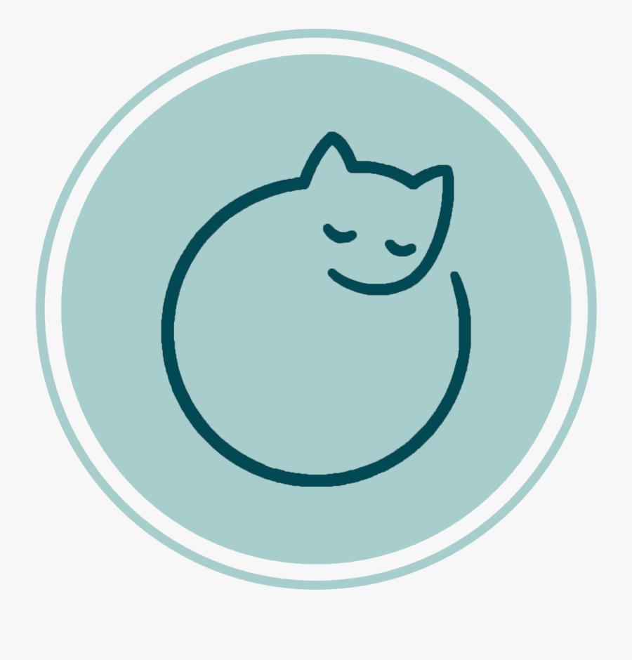 Transparent Sleeping Cat Png - Simple Cat Logo Design, Transparent Clipart