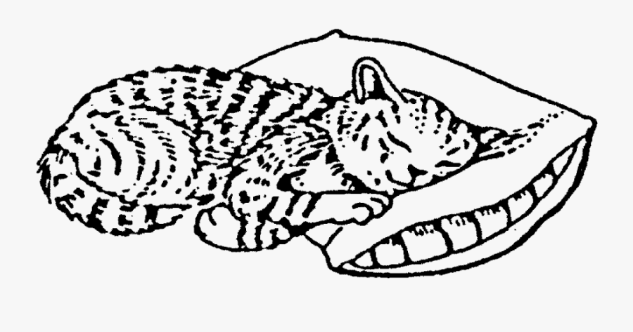 "Sleeping Cat Rubber Stamp""  Title=""sleeping Cat Rubber - Sleeping Cat, Transparent Clipart"