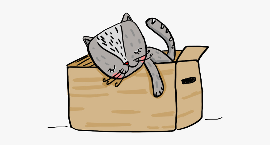 Sleeping Cat Box Home Sleep Animal Illüstration Cat, Transparent Clipart