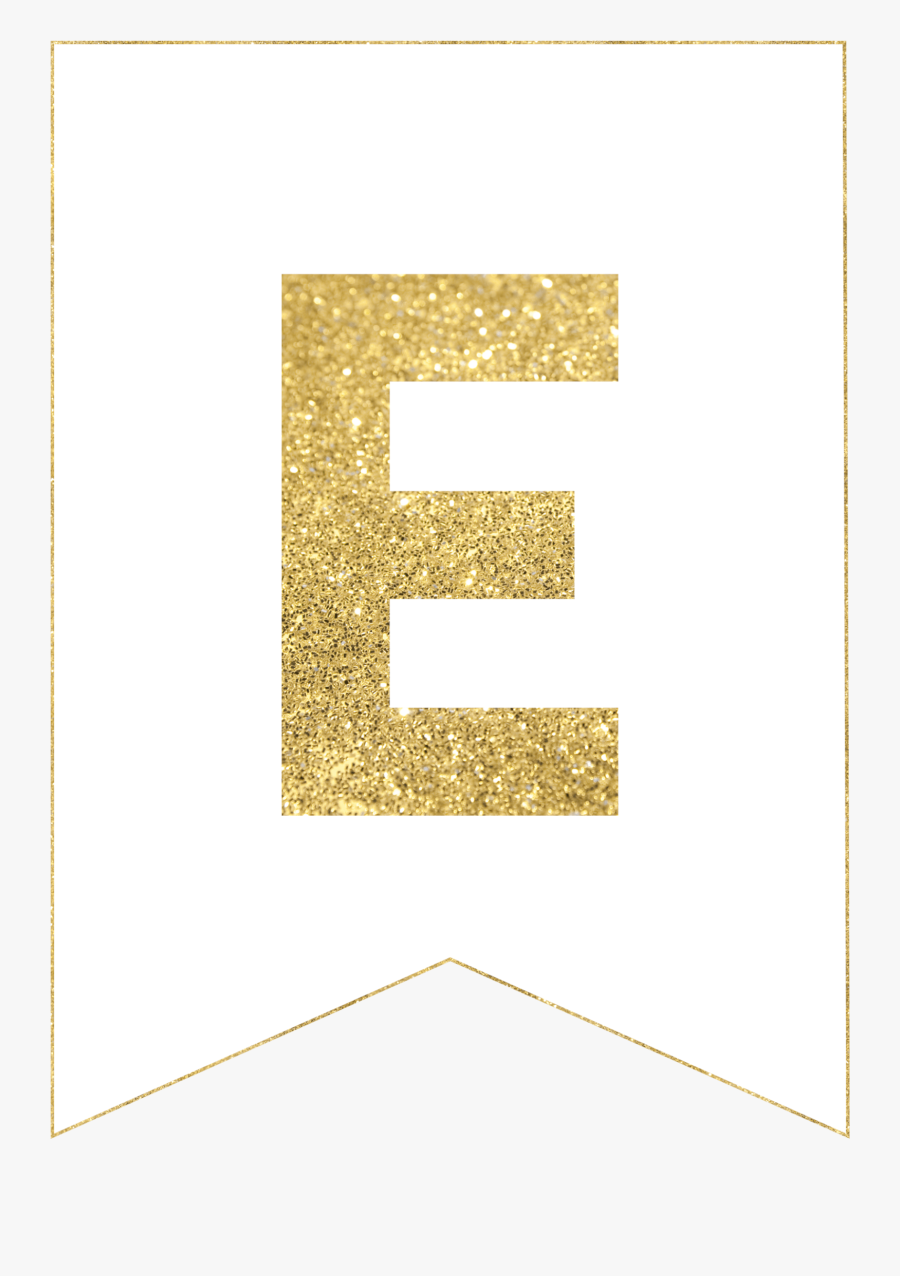 Gold Free Printable Banner Letters, Transparent Clipart