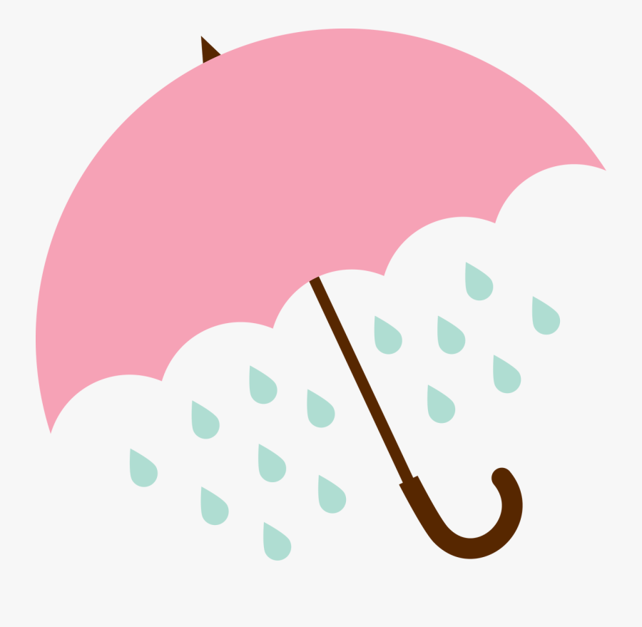 Umbrella And Rain Svg Cut File , Transparent Cartoons - Umbrella With Rain Svg, Transparent Clipart