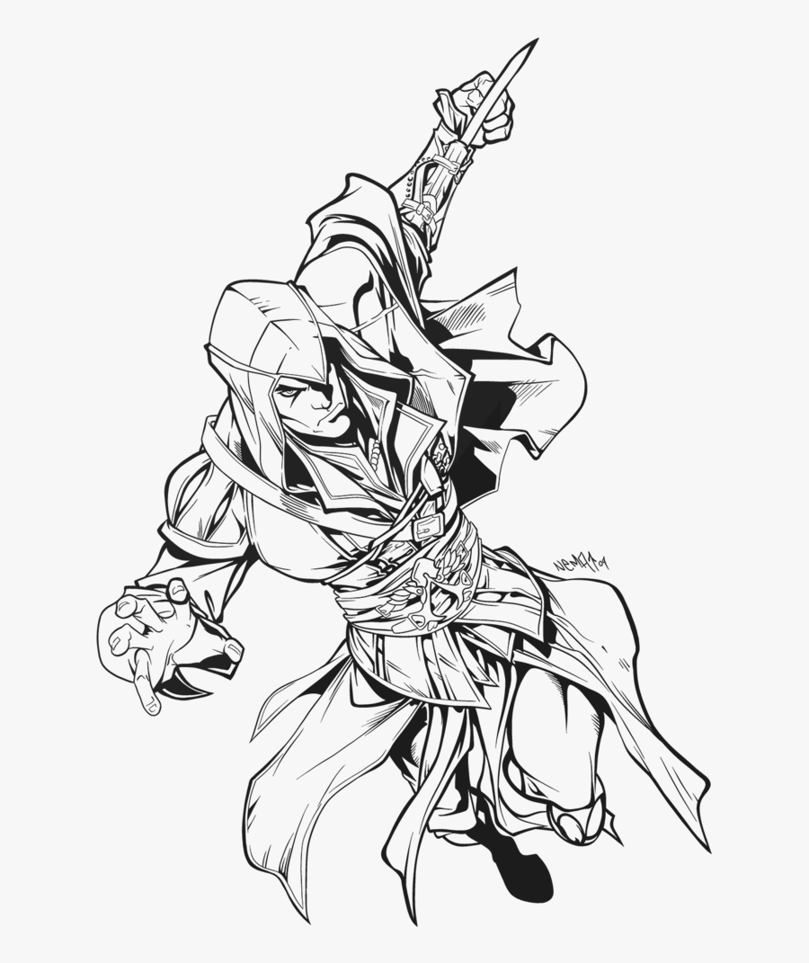Drawn Ivy Ink Simple Assassin S Creed Drawing Free Transparent
