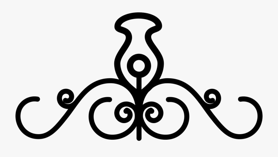 Clip Art Floral With A Central - Curve Line Art Designs, Transparent Clipart