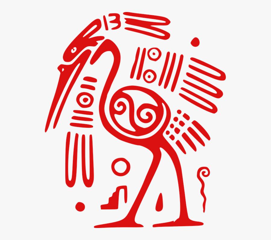 Ibis, Bird, Mexican, Tribal, Aztec, Ancient - Mexican Design Png, Transparent Clipart
