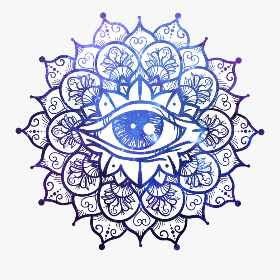 Yin Yang Symbol Mandala, Transparent Clipart