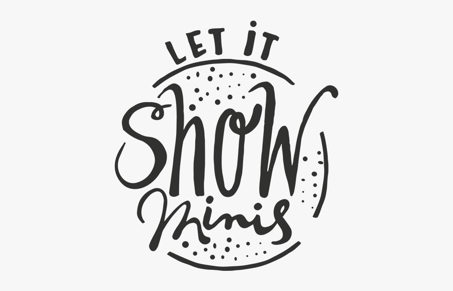 Let It Snow Minis Word Art, Transparent Clipart
