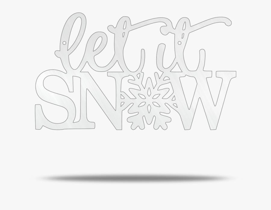 Let It Snow Steel Wall Sign - Line Art, Transparent Clipart