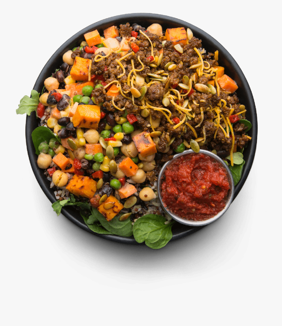 Grass-fed Beef Taco Hash - Half Plate Of Vegetables, Transparent Clipart