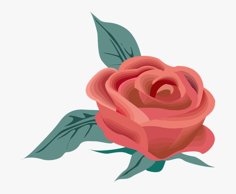 Garden Tea Rose,plant,botany,rose Order,flowering Plant,rosa - Circulo De Flores Png, Transparent Clipart