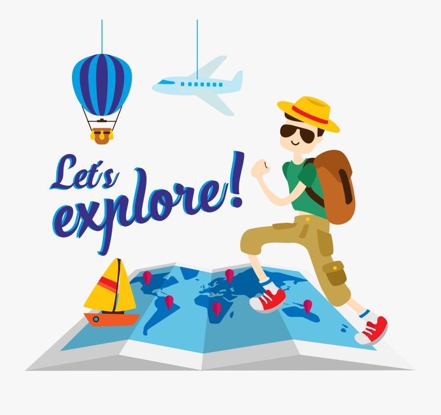 Incredible Voyages - Travel Illustration Png, Transparent Clipart
