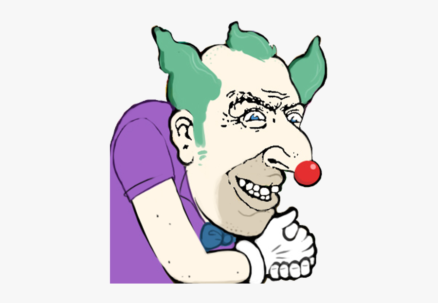Face Facial Expression Nose Cheek Smile Clip Art Male - Krusty The Clowns Head Png, Transparent Clipart