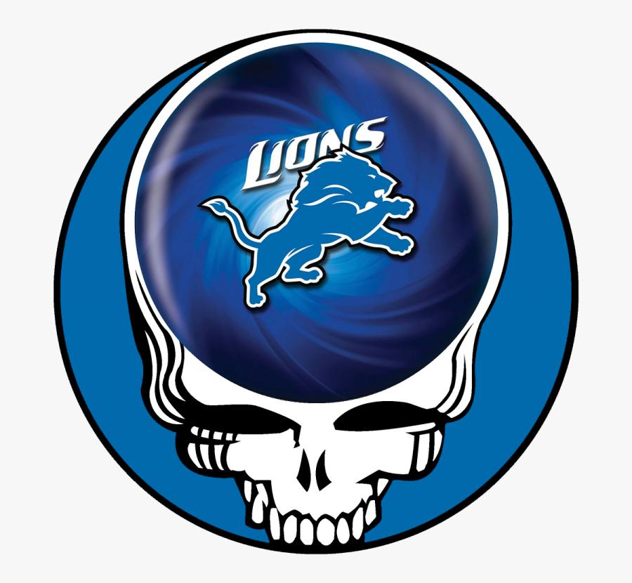 Detroit Lions Skull Logo Decals Stickers - Grateful Dead Logo, Transparent Clipart