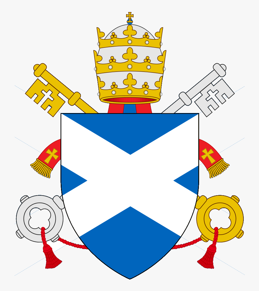 Holy Empire Of The Reunified Papal States - Papal States Coat Of Arms, Transparent Clipart