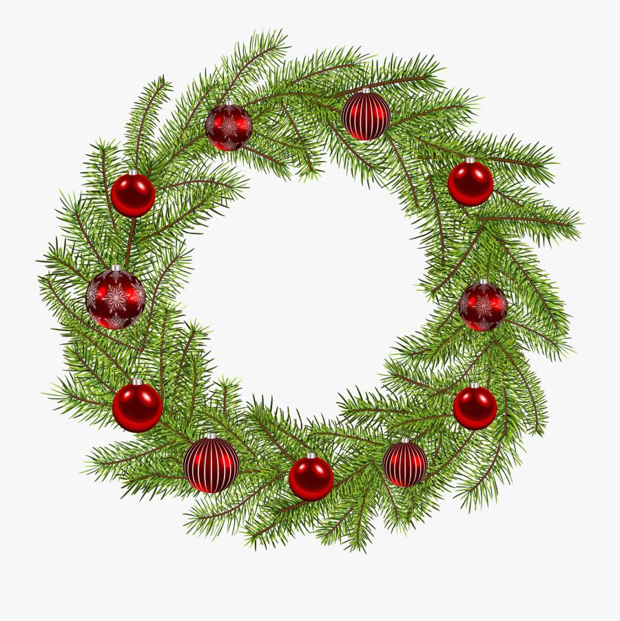 Deco Christmas Wreath Png Clip Art Image - Clipart Christmas Wreath Png, Transparent Clipart