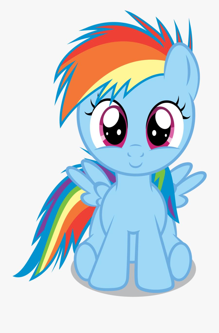 Rainbow Dash Rarity Applejack Pinkie Pie Twilight Sparkle - Rainbow Dash Filly, Transparent Clipart