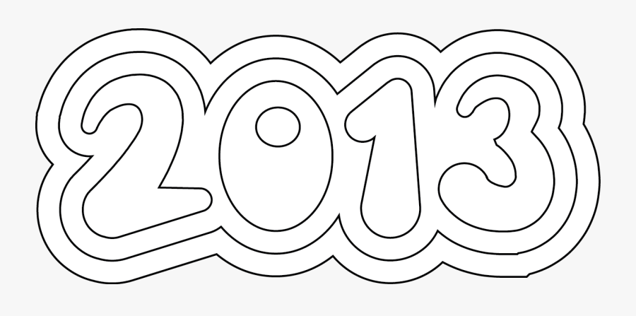 New Years Coloring Pages Digital Stamp Iswtx - Printable Happy New Years 2012 Coloring Pages, Transparent Clipart