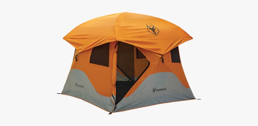 Picture Of 4 Person Gazelle T4 Hub Tent Orange - Gazelle Hub Tent, Transparent Clipart