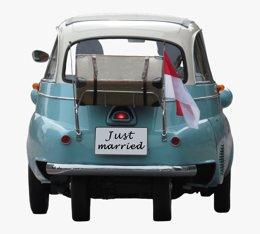 Wedding Just Married On Car - Carro Parte Trasera Png, Transparent Clipart