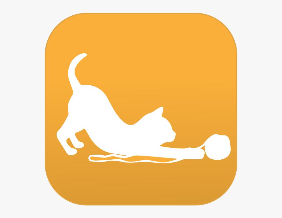 Completely Feline Focused - Sticker, Transparent Clipart