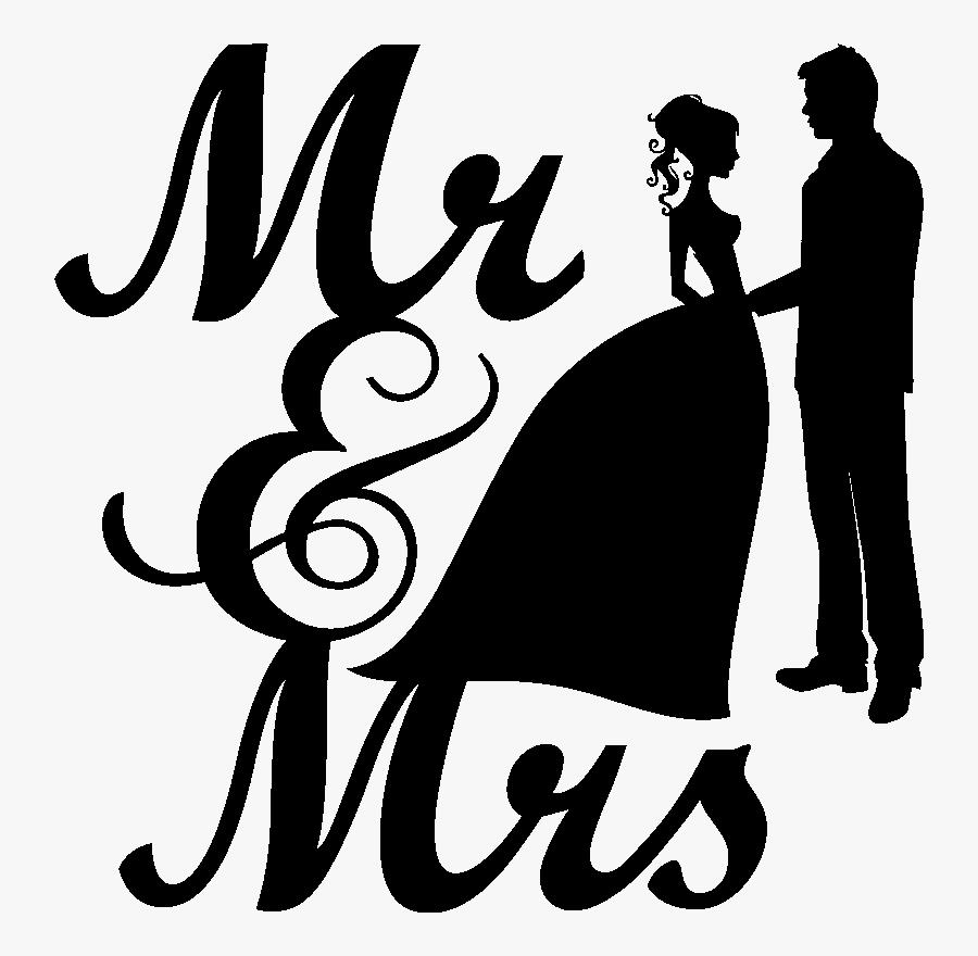 Wedding Invitation Mrs - Transparent Mr And Mrs Png, Transparent Clipart