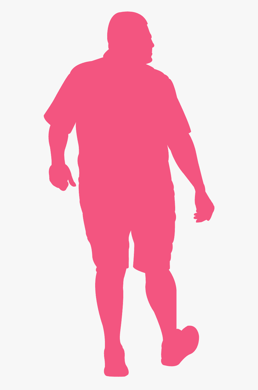 Man Walking Away Silhouette, Transparent Clipart