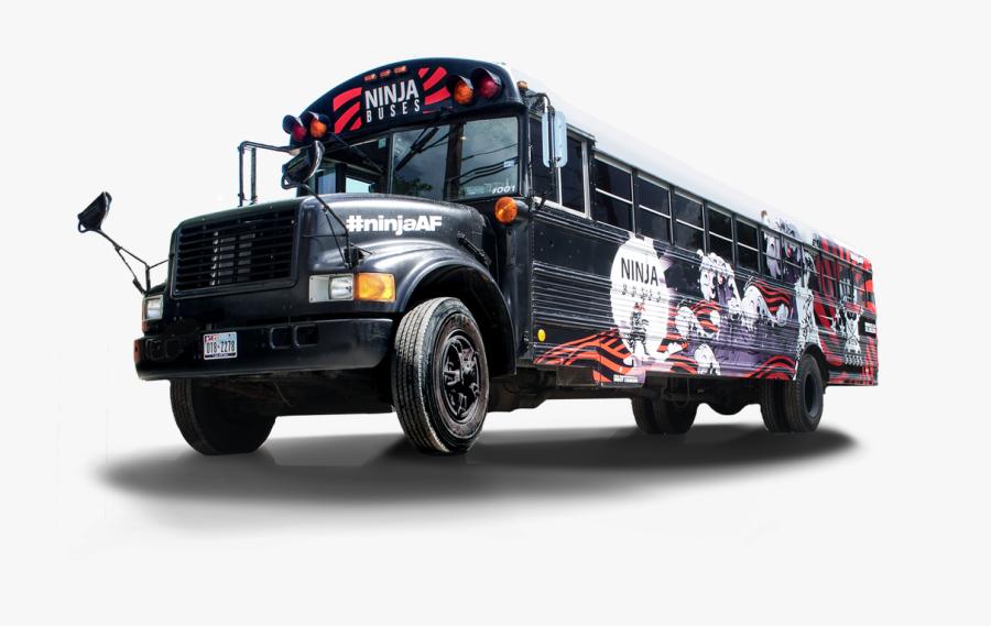 Black School Bus, Transparent Clipart