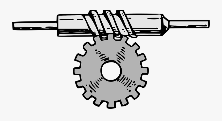 Gear, Transmission, Mechanical, Machine, Engineering - Gears Vertical To Horizontal, Transparent Clipart