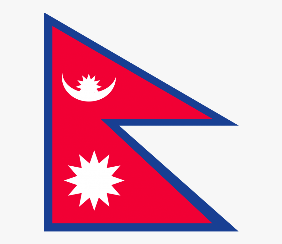 Transparent Triangle Flag Banner Png - Flag Of Nepal Jpg, Transparent Clipart