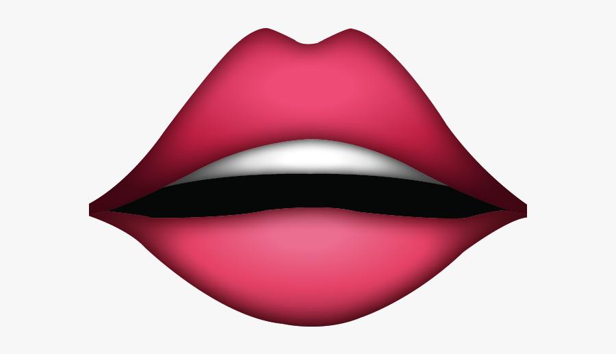 Lipstick Clipart Emoji - Lips Emoji, Transparent Clipart