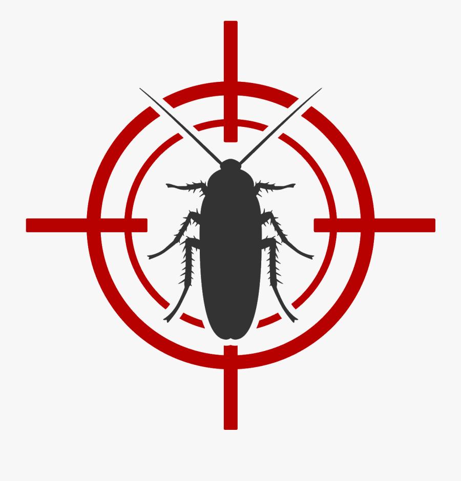 Denco Exterminating Inc - Cockroach Black And White, Transparent Clipart