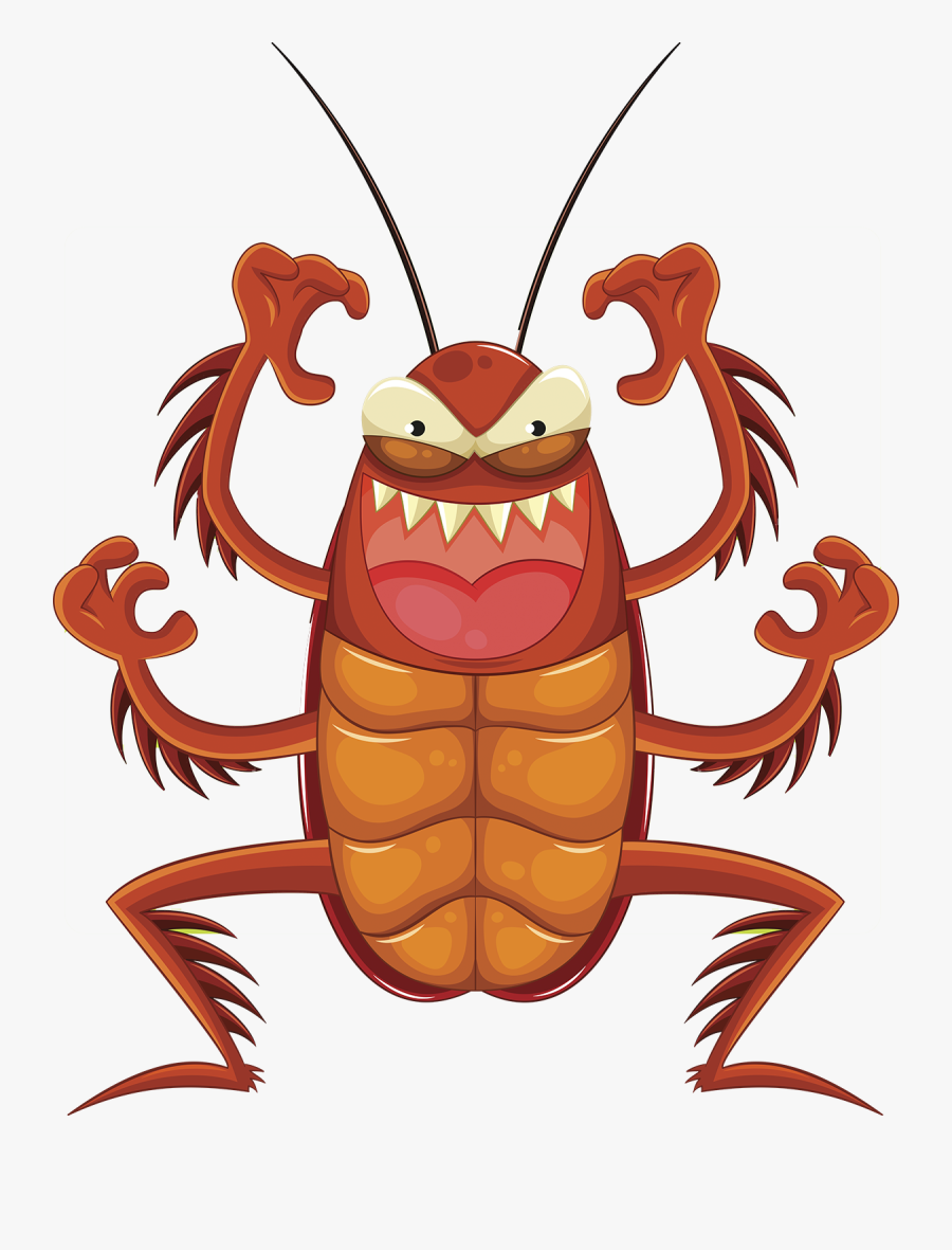 Roaches - Cartoon Cockroach, Transparent Clipart