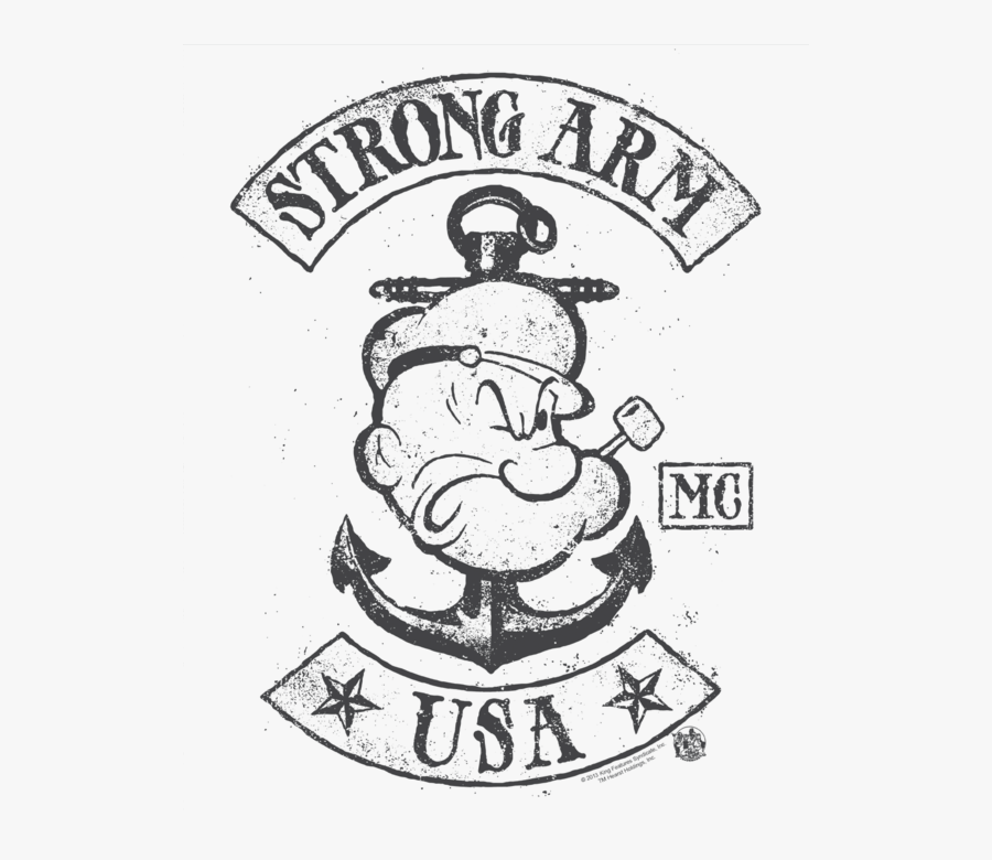Strong Arm Usa Popeye, Transparent Clipart