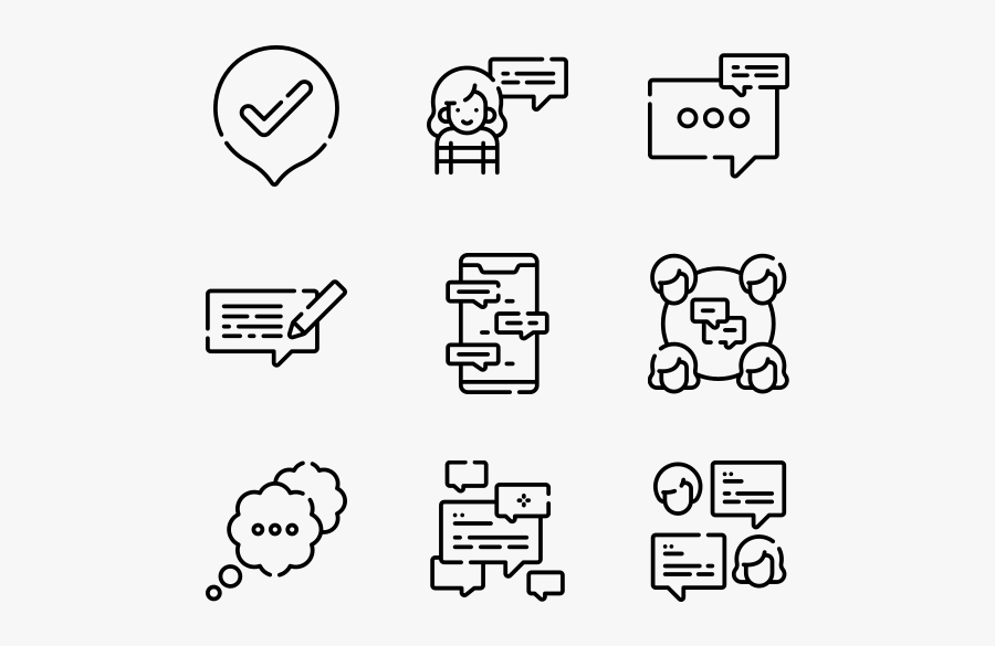 Chat White Icons Png Free Transparent Clipart Clipartkey