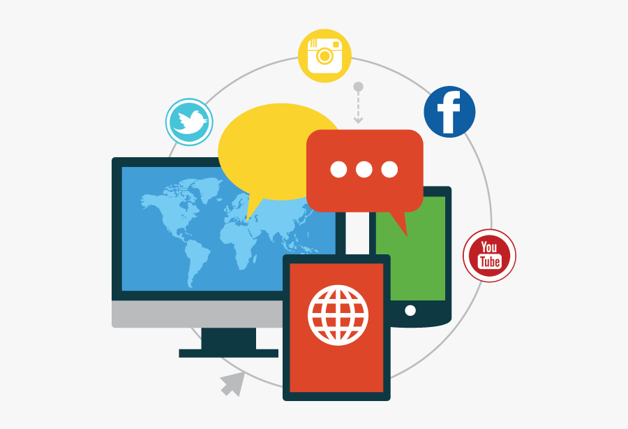 Spotlight Online Web Design - Social Media Marketing Png, Transparent Clipart