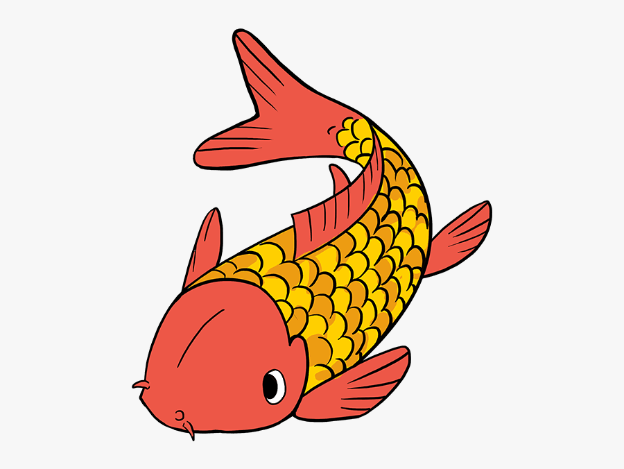 How To Draw Koi Fish - Koi Fish Drawing Easy, Transparent Clipart