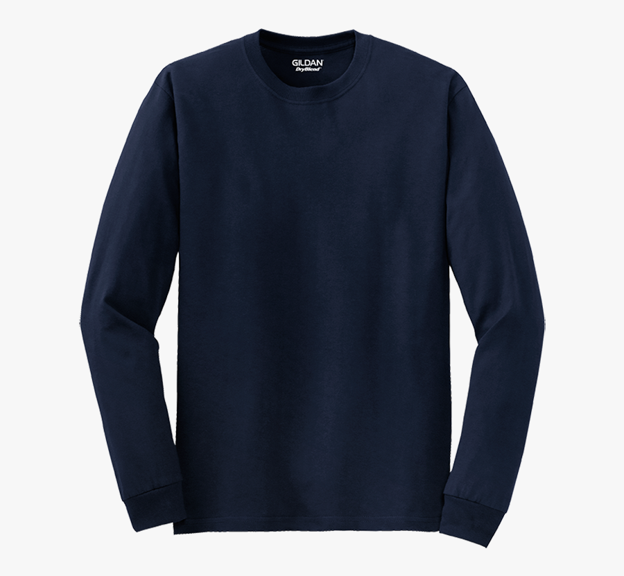 S P E C - Gildan Long Sleeve T Shirt Navy Blue Png, Transparent Clipart
